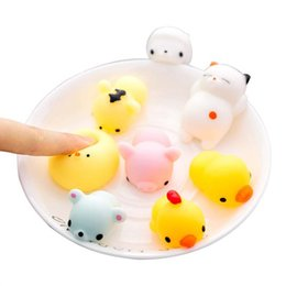 Animal lindo Mini Squishy Juguete Antiestrés Bola Squeeze Rising Toys Abreact Soft Sticky Squishi Stress Relief Juguetes Regalo divertido desde fabricantes