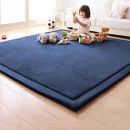 2019 colchas azuis claras Honlaker Tapete de Estilo Japonês Tatami 180 * 200 * 2 CM Luxo Grande Sala de estar Tapetes Crianças Quarto Mantas Cobertor