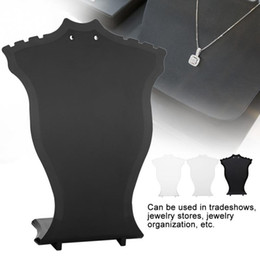 wholesale jewelry display stand Promo Codes - Jewelry Display Stand Pendant Necklace Chain Holder Earring Bust Display Stand Showcase Rack Black White Transparent