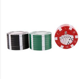 2019 fichas de póker de metal Pequeño chip Poker Trituradora de humo Aleación de cinc Amoladora metálica de 3 capas Dientes afilados portátiles Molinillo de 40 mm rebajas fichas de póker de metal