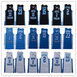 il pullover di pallacanestro di stile Sconti 2020 North Carolina Tar Takels # 2 Cole Anthony 23 Michael 15 Vince Carter College Basket Baskeys S-3XL nuovo stile cucito