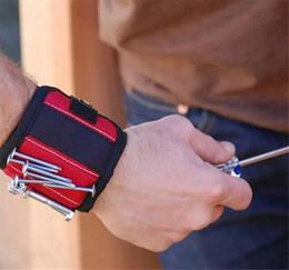 Magnetische Armband-Taschen-Werkzeug-Gürteltasche-Tasche Schrauben-Halter-Holding-Werkzeuge Magnetische Armbänder Praktisches starkes Chuck Handgelenk Toolkit von Fabrikanten