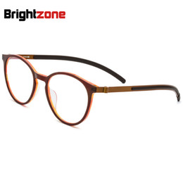 16c41b1d1c Tortoise Mania High Character Acetate Pure Titanium Myopic Eye Frame Man  Round Glass Super-Light Spectacle Glasses Eyeglasses