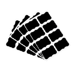Adesivo on-line-Quadro-negro Placa de Giz Adesivos Decalques Jóia Da Cozinha Rótulos Frascos De Cozinha Etiqueta Etiquetas Garrafa De Armazenamento Recipiente Rótulo KKA7128