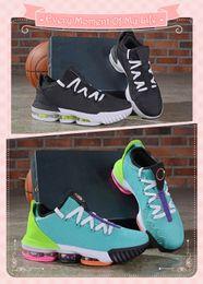 hombres zapatos de pitón Rebajas Low Lebron 16 Hyper Jade Black Python Hombres Zapatillas de baloncesto James 16s Electric Green Total Orange White Designer LBJ 16 Zapatillas de deporte para hombre
