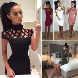 Au détail et en gros 2017 Sexy Femmes Bandage Bodycon Coton Sans Manche Soirée Cocktail Courte Mini Robe Livraison Gratuite CL142 ? partir de fabricateur