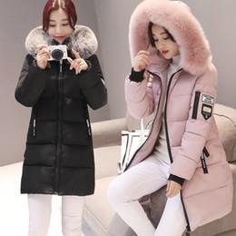 Noir Longs Hiver Blanc Rose 2019 Womans Fur Vestes Capuche Femme Chaud Casual D Pardessus Femmes Coton Épais Parkas Mode Manteaux doreWCxB