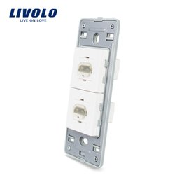 glasses outlet Promo Codes - Livolo US Standard DIY Parts Plastic Materials Function Key, 2 Gang HDMI Wall socket outlet Base,Without Glass Panel