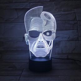 Canada Illusion de table à deux faces 3D Led Night Light Boy Lampe Multi Color Changable Lights Décorations de Noël Veilleuses Offre