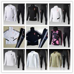 2019 20 Juventus Jacke Trainingsanzug 18 19 20 RONALDO DYBALA Trainingsanzug Sweatshirt Uniform Juve Fußball Jacke Trainingsanzug von Fabrikanten
