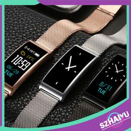 2019 смотреть телефоны из нержавеющей стали Fitness Tracker Stainless Steel Strap Smart Wristband Heart Rate Monitor Fitness Bracelet Smart Watch X3 For IOS Android phone скидка смотреть телефоны из нержавеющей стали