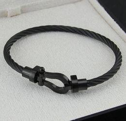 Hufeisen Magnet Schnalle Stahl Wir Armband Mode neue Männer Frauen Fred Titan Stahl Roségold Armband von Fabrikanten