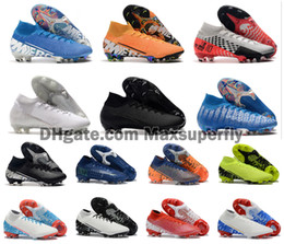 Tamanho de botas de futebol ronaldo on-line-2019 Hot Mercurial Superfly VII 7 360 Elite FG Shoes CR7 Ronaldo Neymar NJR Mens Boys High tornozelo futebol botas de futebol chuteiras Tamanho 39-45