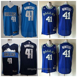 2019 Retro Men Dallas Basketball Mavericks Jersey 41 Dirk Nowitzki  Stitching Jerseys - balck blue Size S-XXL 631746bbd