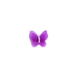 Perni di clip a farfalla online-Clip di capelli per ragazze Perno di capelli Perle in chiffon 3D Accessori per copricapo da principessa a farfalla Barrette dolci per bambine