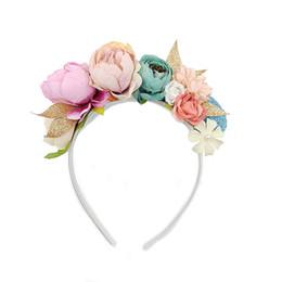 vestidos de casamento dos miúdos china Desconto 2019 New Years Floral Coroa Moda Headband Da Flor para as Meninas Bonitas Acessórios Do Cabelo Da Coroa Do Casamento para o Partido Da Menina Do Bebê