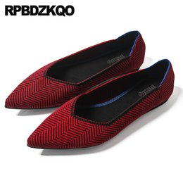 comfortable ladies spring autumn breathable designer flats red women  shallow cheap shoes china pointed toe 2018 female chinese 9f174c62f44f
