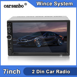 Entrada carregador de carro on-line-2 Din 7 polegadas Car Radio Toque Stereo tela Multimedia Player MP5 espelho Ligação Android / IOS Bluetooth FM SD USB dvd AUX carro Input