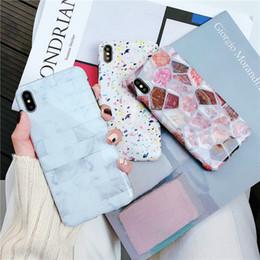 алмазные кейсы Скидка Новые конструкции Алмазный мраморный чехол для iPhone XS Max XR X Ruby Изумрудный узор Чехлы для телефона для Iphone XS 6 7 8 Plus