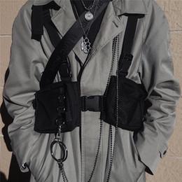 bolso de cadera táctico Rebajas Nueva moda caliente Kanye Pecho Rig Hip Hop Streetwear Funcional Táctico Bolsa de pecho Bolsa de cintura cruzada Soulder Bolsa Kanye Wes