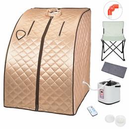 SPA Home Sauna Tienda de Vapor para desintoxicaci/ón y p/érdida de Peso Adelgazante port/átil 2L de Vapor Sauna SPA Pot Home Suit Saunas m/áquina de Vapor