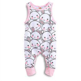 412d0191edc0 baby girl clothes bodysuit baby girl onesie bodysuits easter bunny full print  jumpsuits fly sleeve bodysuits rabbit flowers printed onesies