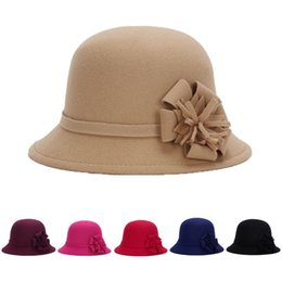 New Women Lady Vintage Wool Round Fedora Bow Cloche Derb Felt Bowler Cap Hat  womenclochehat Fashion woman 9bf4e45616e7