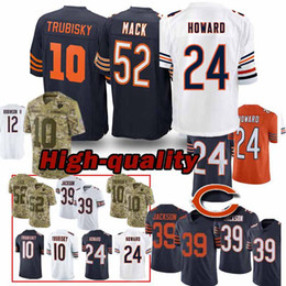 52 Khalil Mack Chicago Jerseys porte 10 Mitchell Trubisky 24 Howard 29 Tarik Cohen Maillot Adulte Top qualité ? partir de fabricateur