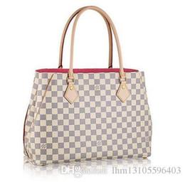 f3ad267fc5af Damier Azur Canvas Calvi Handbag N41449 Women Tote Bag TOP OXIDIZED REAL  LEATHER ICONIC BAGS SHOULDER BAG CROSS BODY BUSINESS BAGS