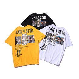 original camisetas Desconto Novo mens designer camiseta rua moda marca original tshirts hip hop rua t-shirt casual respirável selvagem camisa de algodão confortável tee