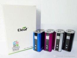 Ismoka Eleaf Mini iStick Kit 1050mah Batteria integrata 10w Uscita massima Tensione variabile Mod 4 colori con cavo USB Connettore eGo DHL da