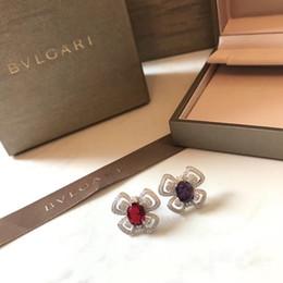 flor de bulbo rosa Desconto Diamantes das mulheres novas deusa deve sterling earings brincos de cristal austríaco para jóias venda quente