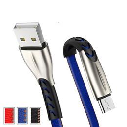 sony mobile audio Rebajas Cable micro USB tipo C Cable de datos plano Jean de nylon de alta velocidad Aleación de zinc V8 1M 3FT 25cm Samsung S10 S9 S8 Plus Note9 Teléfono andorid