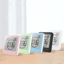 Argentina NUEVO LCD Reloj de pared digital Reloj de baño Temporizador de ducha a prueba de agua Temperatura Humedad Ducha de pared Temporizador de cocina Suministro