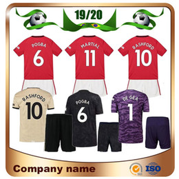 alexis jersey Coupons - 19 20 United #6 POGBA Kids Kit Soccer Jerseys 2019 Home Red ALEXIS MATA children Soccer Shirt Away LUKAKU MARTIAL Football uniform