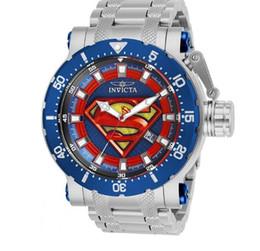Marca de lujo original para hombre DC Comics Acero inoxidable Dial azul Venta caliente desde fabricantes