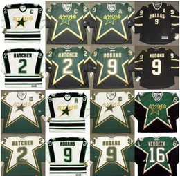 Ed belfour онлайн-1990 Dallas Stars Винтаж CCM Джерси 2 DERIAN HATCHER 9 MIKE MODANO 16 PAT VERBEEK 20 ED BELFOUR Mix размер заказа S-3XL