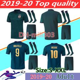 2019 uniforme de equipe de futebol 2019 camisas de futebol Taça da Europa ITÁLIA kits 19 20 da equipe nacional camisa de futebol Itália INSIGNE BELOTTI Verratti KEAN BERNARDESCHI uniformes uniforme de equipe de futebol barato