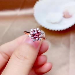 conjuntos de jóias garnet vermelho Desconto clássico requintado Red Garnet anel brincos e colar de jóias conjunto com prata para as mulheres