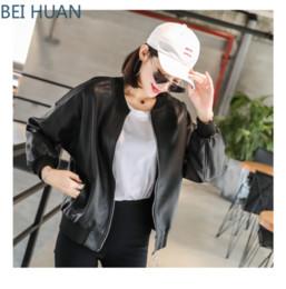original lederjacken Rabatt Koreanische Damen Lose Leder Rundhals Dünner Kurzer Mantel Original Wind Leder Damen Jacken