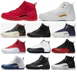 on sale ca28d 4377b 2019 chaussures de taxis Haute Qualité 12 12s OVO Blanc Gym Rouge WNTR Les  Chaussures de