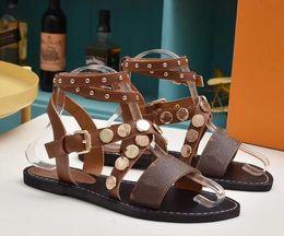 Argentina Sandalias de las mujeres Pisos de Verano Sexy Tobillo Botas Altas Sandalias de Gladiador Niñas Ocio Casual Shoes Designer Ladies Beach Sandales Dames Wear cheap gladiator flat sandal boot Suministro