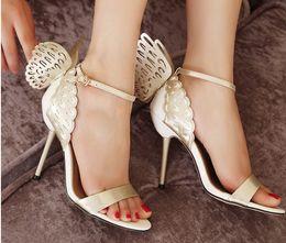 2019 фэнтезийные каблуки Горячая распродажа-NEW Sexy трехмерная фантазия Sophia Webster Butterfly туфли на высоком каблуке Женщины Насосы Peep Toe заклинание цветные сандалии дешево фэнтезийные каблуки
