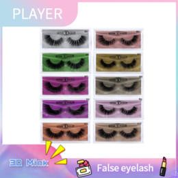 Date 3D vison cils maquillage pour les yeux vison faux cils doux naturel épais faux cils extension avec couleur paquet beauté outils 10 styles ? partir de fabricateur