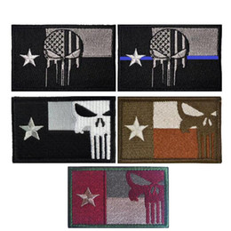 Parches de banderas tácticas online-Estados Unidos Bandera de Texas táctico insignia Parches de Moral gancho bucle bordado 3D Ejército Placas cosa en remiendo del envío gratis 081