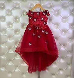 vestido bordado simples Desconto 2019 novas roupas de verão para crianças, vestido de meninas, vestido sem mangas, simples vestido de borboleta bordado