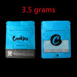 COOKIES California SF 8ème 3.5g Mylar Childproof Sacs 420 Emballage Connecté Cookies Taille du sac 3.5g-1/8 Sacs ? partir de fabricateur
