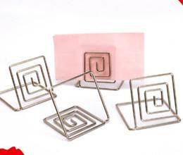 Matrimoni per i titolari di carte online-DHL Wire Place Titolare della carta Titolare della carta in metallo Stand Nome del matrimonio Titolare del luogo per matrimoni, cene 3,8 * 3,8 cm
