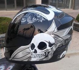 Casco capacetes moto on-line-ARAI Frete Grátis Crânio Rosto Cheio Da Motocicleta Capacete De Corrida Com Único Óculos de Proteção REPLICA CAPACETE Capacetes Casco Moto (Replica-Não Original)