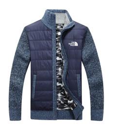 Uomini vestiti di lana online-New north the Men's Jacket knitting sweater Casual Woolen maglioni hick knit keep warm Cappotti outdoor capispalla inverni Cardigan uomo abbigliamento